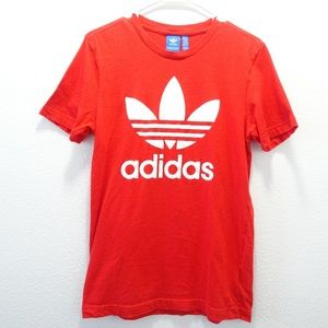 Woman's Adidas Trifoil Graphic Tee Small Red
